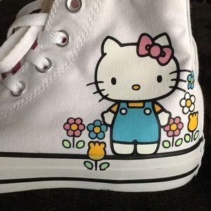 Hello kitty height top converse
